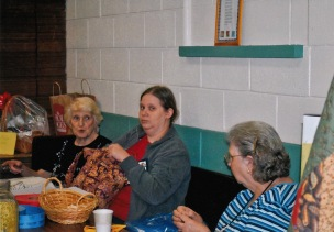 Connie David, Mildred Ann Smith, Catherine Willams at Quilt Show circa 2010